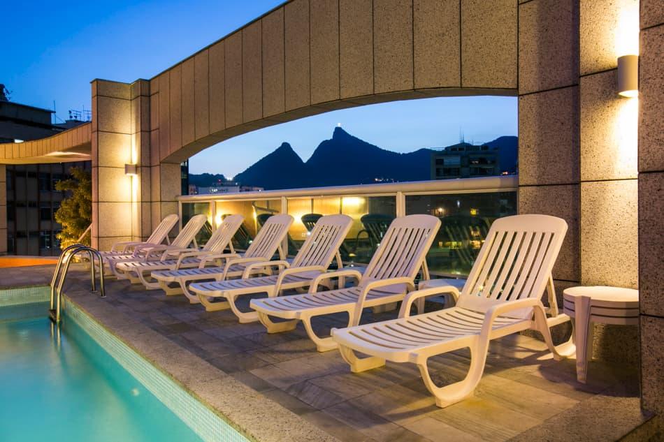 Área de lazer do Scorial Rio Hotel